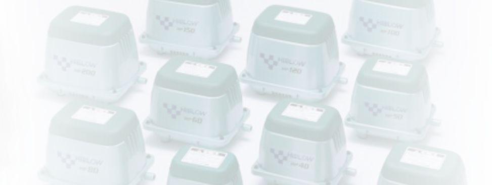компрессоры hiblow для септиков и прудов