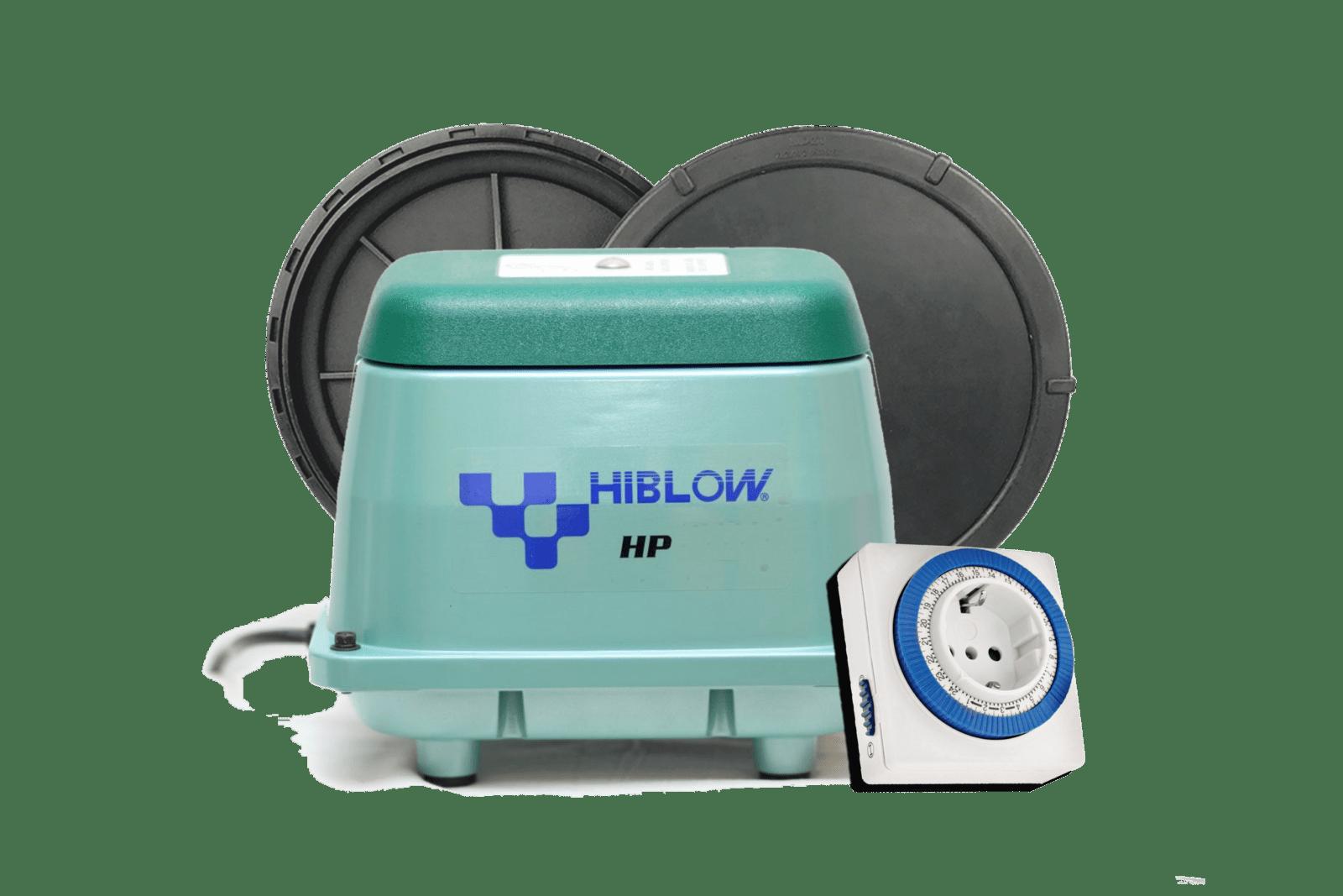 Комплекты: компрессор Hiblow + дисковый или трубчатый аэратор + таймер времени