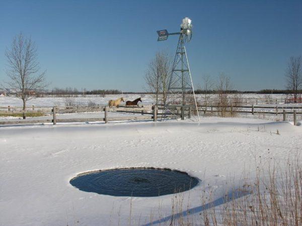 Аэрация водоема зимой